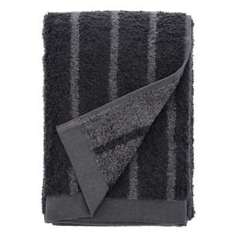 Szary ręcznik z bawełny frotte Södahl Stripes, 100x50 cm