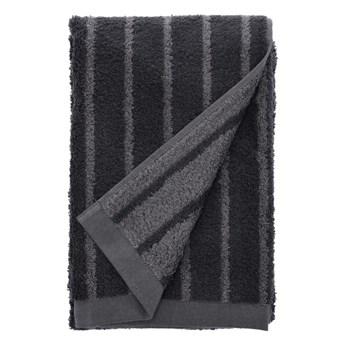 Szary ręcznik kąpielowy z bawełny frotte Södahl Stripes, 140x70 cm