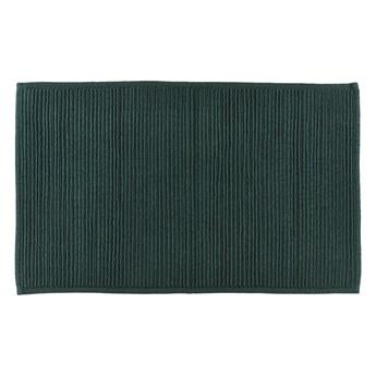 Zielony dywanik łazienkowy z bawełny Södahl, 50x80 cm