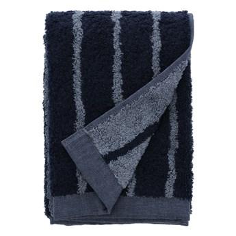 Niebieski ręcznik z bawełny frotte Södahl Stripes, 100x50 cm