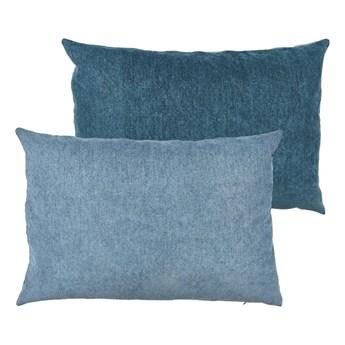 Niebieska poduszka z wysoką zawartością bawełny Södahl Klara, 40x60 cm