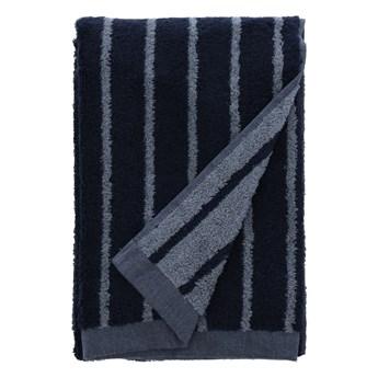 Niebieski ręcznik kąpielowy z bawełny frotte Södahl Stripes, 140x70 cm