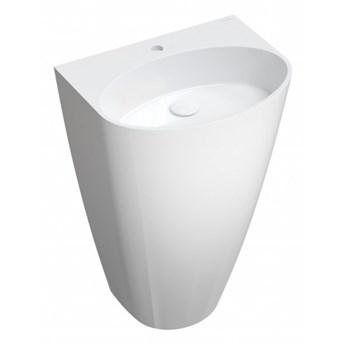 Umywalka Siena, 55x43 cm, wolnostojąca, biały, połysk, SIENAUWBP