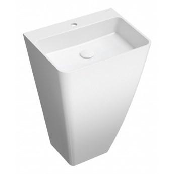 Umywalka Parma, 55x43x85 cm, wolnostojąca, prostokątna, biała, PARMAUWBP