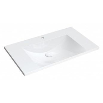Umywalka Naxos, 76x46 cm, meblowa, prostokątna, biała, NAXOS760BP