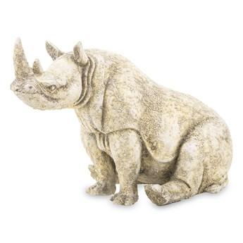 RHINO figurka siedzący nosorożec brązowo-złoty, wys. 23 cm