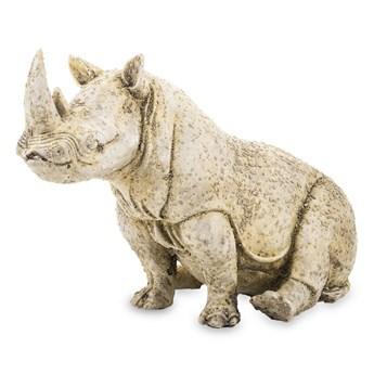 RHINO figurka siedzący nosorożec brązowo-złoty, wys. 19 cm