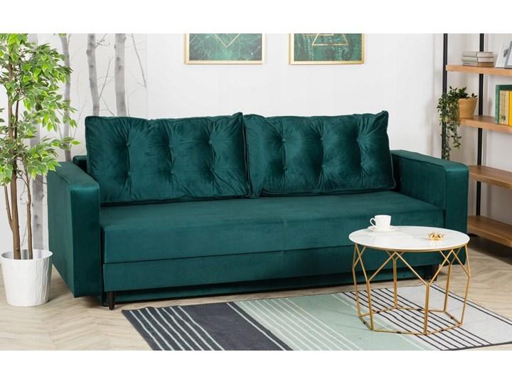 Sofa Rozkładana BRAVOS Funkcja Spania Pojemnik Butelkowa Zieleń Pomieszczenie Salon