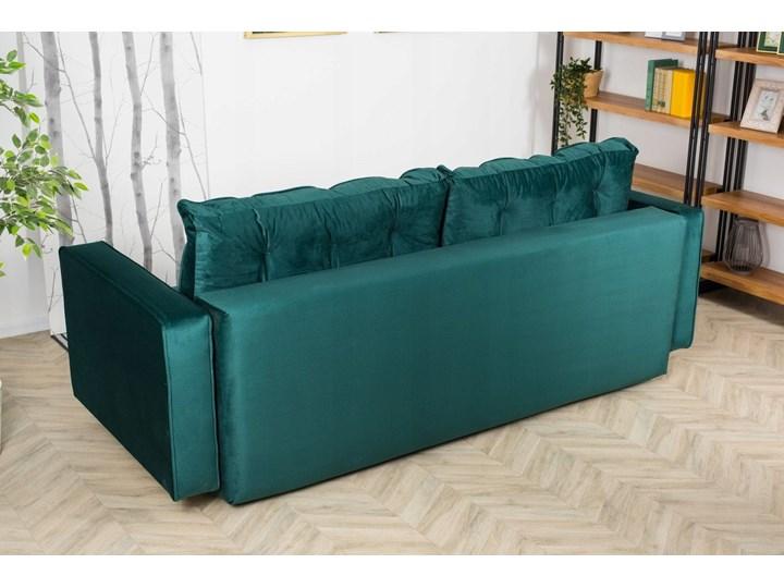 Sofa Rozkładana BRAVOS Funkcja Spania Pojemnik Butelkowa Zieleń Typ Gładkie