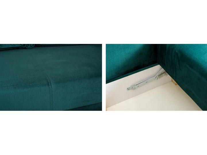 Sofa Rozkładana BRAVOS Funkcja Spania Pojemnik Butelkowa Zieleń Kategoria Sofy i kanapy Typ Gładkie