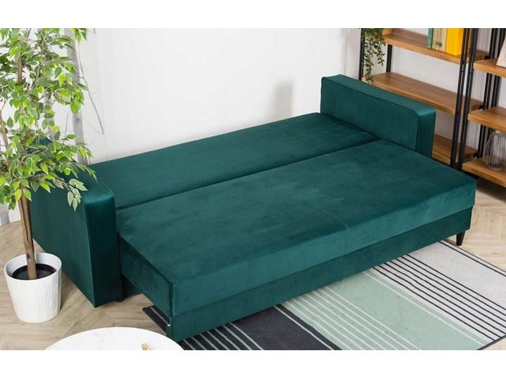 Sofa Rozkładana BRAVOS Funkcja Spania Pojemnik Butelkowa Zieleń Kategoria Sofy i kanapy