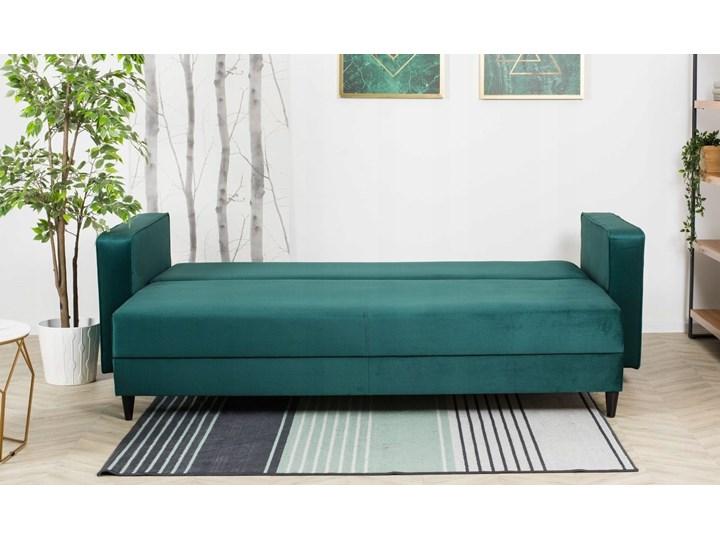 Sofa Rozkładana BRAVOS Funkcja Spania Pojemnik Butelkowa Zieleń Typ Pikowane Pomieszczenie Salon