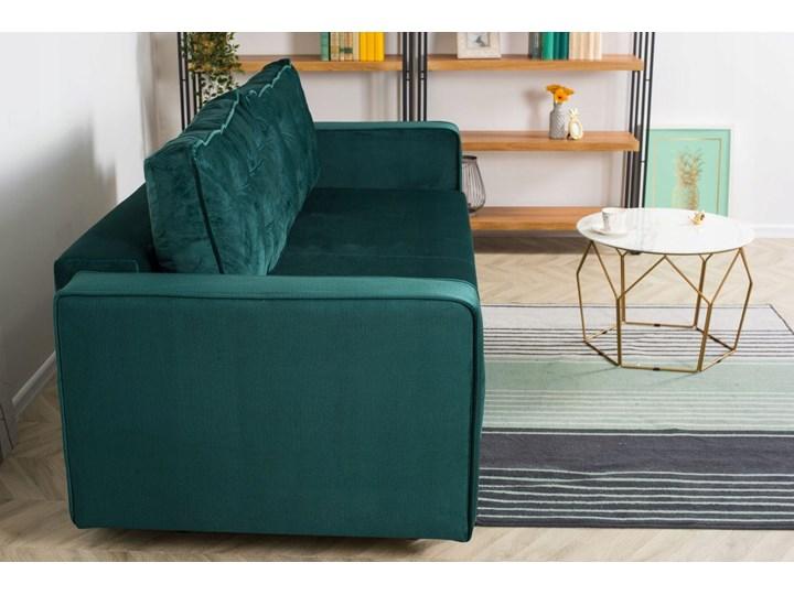 Sofa Rozkładana BRAVOS Funkcja Spania Pojemnik Butelkowa Zieleń Typ Pikowane Typ Gładkie
