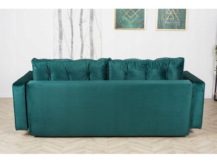 Sofa Rozkładana BRAVOS Funkcja Spania Pojemnik Butelkowa Zieleń Materiał obicia Tkanina