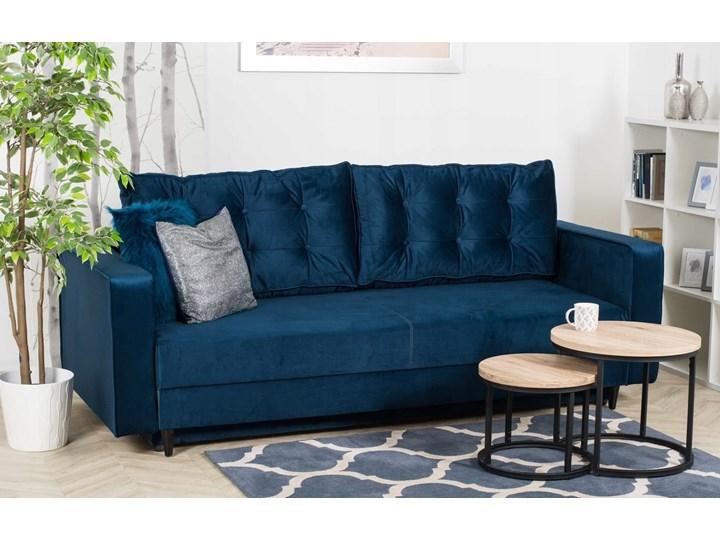 Sofa Rozkładana BRAVOS Funkcja Spania Pojemnik Granat Kategoria Sofy i kanapy Materiał obicia Welur