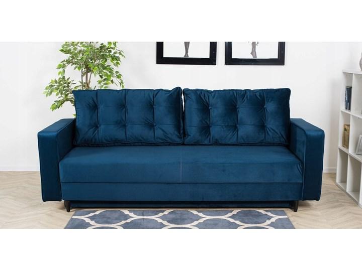 Sofa Rozkładana BRAVOS Funkcja Spania Pojemnik Granat Pomieszczenie Salon