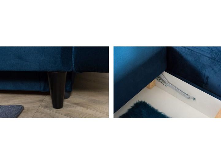 Sofa Rozkładana BRAVOS Funkcja Spania Pojemnik Granat Typ Pikowane Wielkość Trzyosobowa