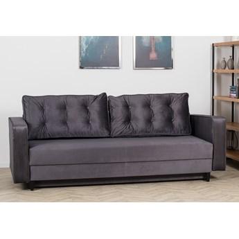 Sofa Rozkładana BRAVOS Funkcja Spania Pojemnik Szara
