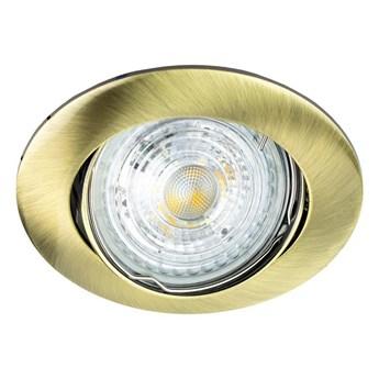 Punktowa oprawa sufitowa wpuszczana regulowana ZIVA KER Brass IP20 okrągła mosiądz EDO777313 EDO