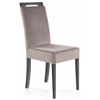 Grafitowe bukowe krzesło z popielatą tapicerką -Tridin