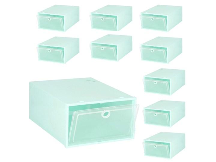 Organizer na buty 10 szt. pudełko z klapą niebieski