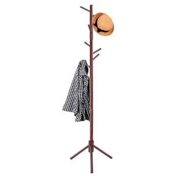 Wieszak na ubrania 175cm stojak podłogowy ciemne drewno