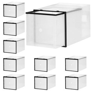 Organizer na buty 10 szt. pudełko wysuwane przeźroczysty
