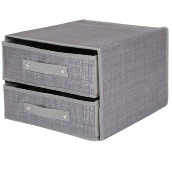 Organizer do szuflady na bieliznę zestaw 3 szt. szary
