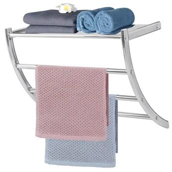 Wieszak łazienkowy na ręczniki 3-ramienny srebrny