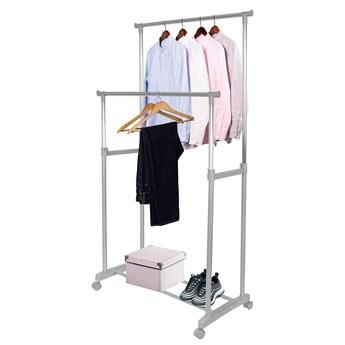 Wieszak na ubrania 88-158cm stojak na kółkach szary