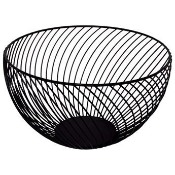 Kosz na owoce, koszyk metalowy 25x15 cm czarny