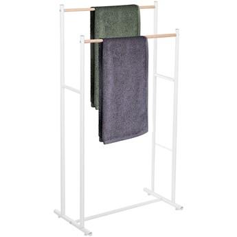 Stojak łazienkowy na ręczniki 2 drążki biały