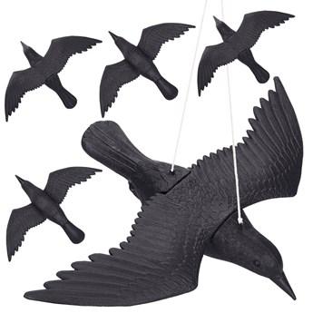 Odstraszacz ptaków 57x40x10cm latający kruk czarny zestaw 5 szt.