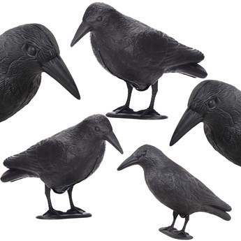Odstraszacz ptaków 11x39x18,5cm stojący kruk czarny zestaw 5 szt.