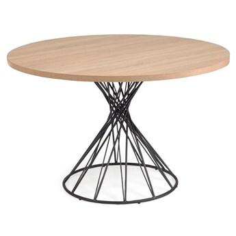 Stół Niut ∅120 cm brązowy-czarny