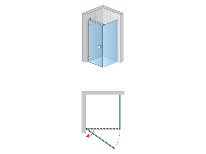 Sanswiss Annea kabina prysznicowa prostokątna 90x75 cm lewa AN1CG09005007+ANT07505007 Wysokość 200 cm Przyścienna Narożna Rodzaj drzwi Uchylne Szerokość 90 cm Kolor Przezroczysty