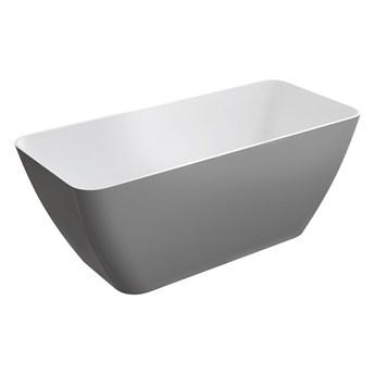 Parma Marble+ wanna wolnostojąca biały/szary połysk 159 cm PARMAWWBSP