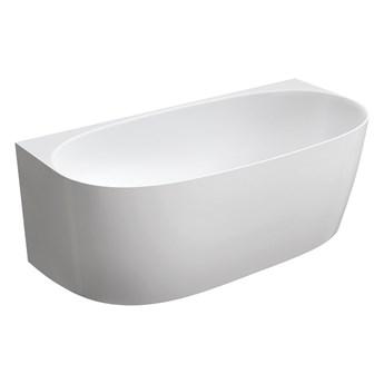 Valencia Marble+ wanna wolnostojąca przyścienna biały połysk 158x77 cm VALENCIASWPBP