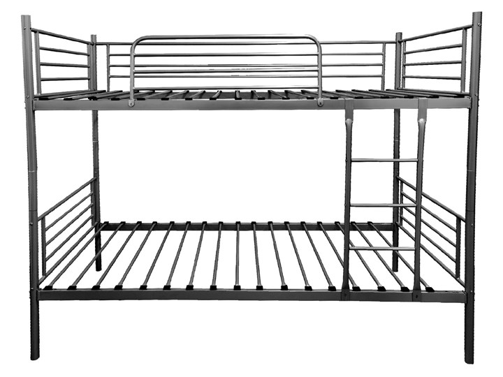 ŁÓŻKO METALOWE PIĘTROWE ROZKŁADANE 80x200 - HADSON - CZARNY Łóżko piętrowe Rozmiar materaca 80x200 cm Kategoria Łóżka dla dzieci