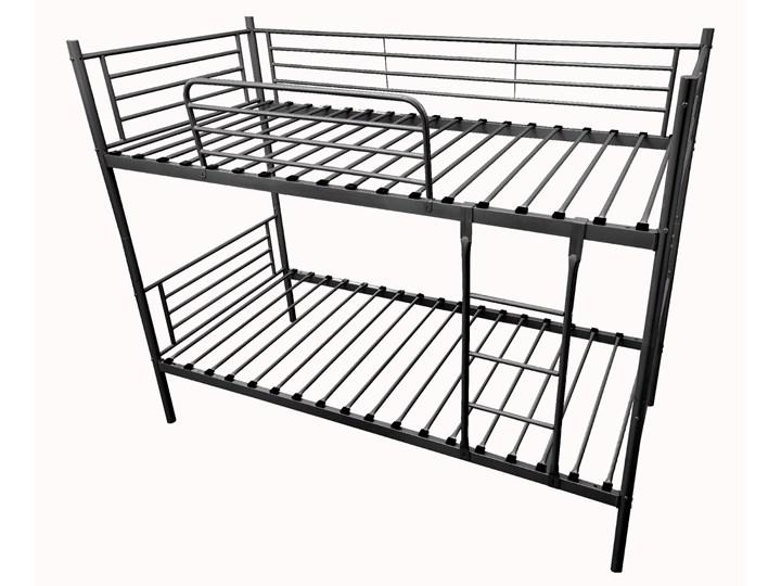 ŁÓŻKO METALOWE PIĘTROWE ROZKŁADANE 80x200 - HADSON - CZARNY Rozmiar materaca 80x200 cm Łóżko piętrowe Kategoria Łóżka dla dzieci