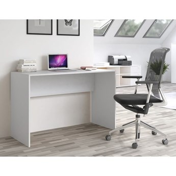 Proste biurko szkolne białe 120x50 cm młodzieżowe