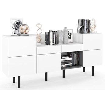 Biała nowoczesna komoda w stylu  skandynawskim - Adela