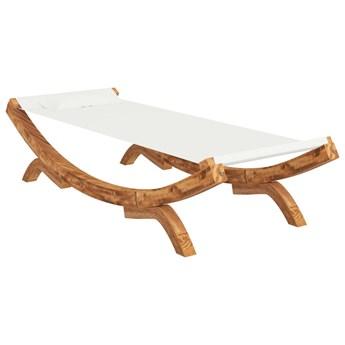 vidaXL Hamak, 100 x 188,5 x 44 cm, lite drewno świerkowe, kremowy