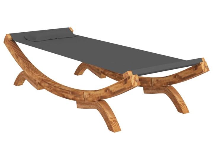 vidaXL Hamak, 100 x 188,5 x 44 cm, lite drewno świerkowe, antracytowy Kolor Szary Kategoria Hamaki