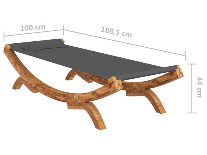vidaXL Hamak, 100 x 188,5 x 44 cm, lite drewno świerkowe, antracytowy Kolor Szary