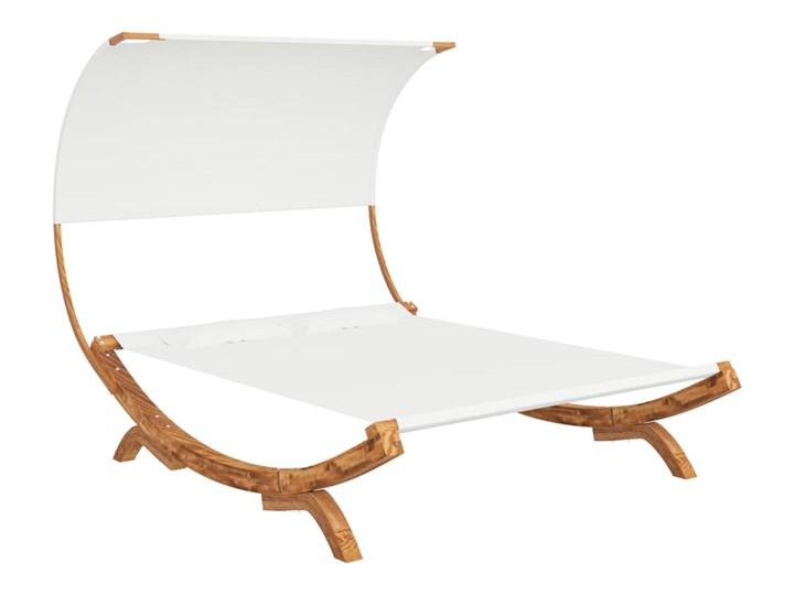 vidaXL Hamak z zadaszeniem, 165x210x155 cm, lite drewno świerkowe