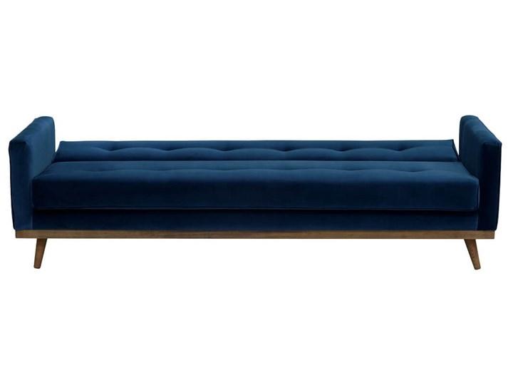 Sofa Klematisar 3-osobowa Welurowa z funkcją spania  (Deluxe - welur łatwozmywalny PEACOCK :deluxe/PEACOCK) Głębokość 91 cm Stała konstrukcja Pomieszczenie Salon