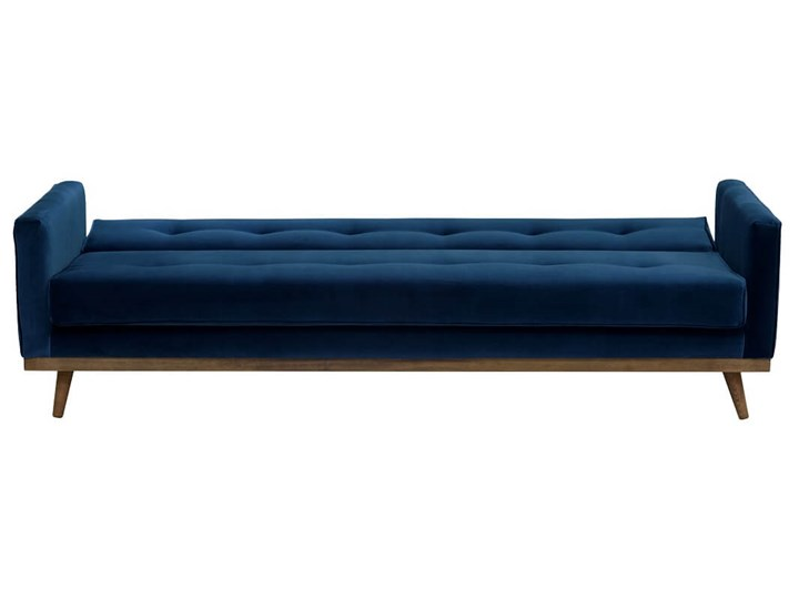 Sofa Klematisar 3-osobowa Welurowa z funkcją spania  (PIANO - welur łatwoczyszczący Musztarda:piano/MUSZTARDA 23) Głębokość 91 cm Szerokość 215 cm Nóżki Na nóżkach Stała konstrukcja Materiał obicia Skóra ekologiczna