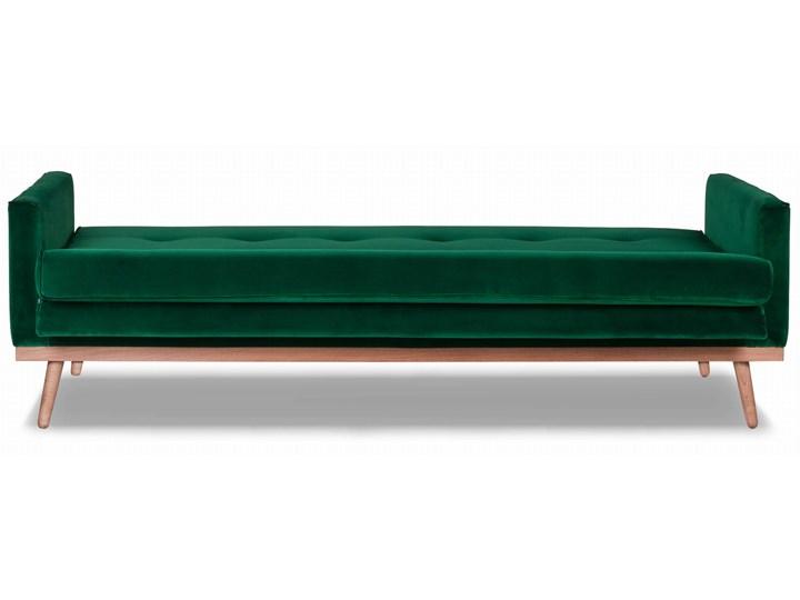 Sofa Klematisar 3-osobowa Welurowa z funkcją spania  (Deluxe - welur łatwozmywalny PEACOCK :deluxe/PEACOCK) Stała konstrukcja Głębokość 91 cm Styl Skandynawski