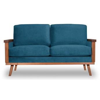 Sofa Orkidé 2-osobowa Welurowa  (Deluxe - welur łatwozmywalny PETROL :deluxe/PETROL)